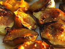 Grilled figs glowing in the evening Provencal sun