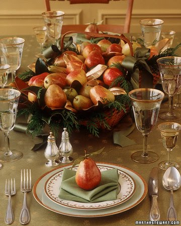 ... Pottery Barn and Sur La Table`. For more ideas on entertaining for the holidays and how to be a wonderful host/hostess visit Martha Stewart online. & EPICUREANN: ~Thanksgiving Day Table Settings~