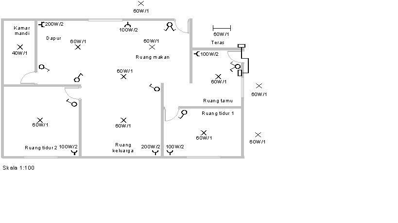 Perencanaan instalasi listrik rumah seputar listrik gambar tata letak rancangan ccuart Choice Image