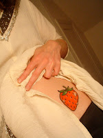 tatuagem morango