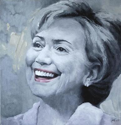 hillary clinton portrait. Hillary Clinton Makeover
