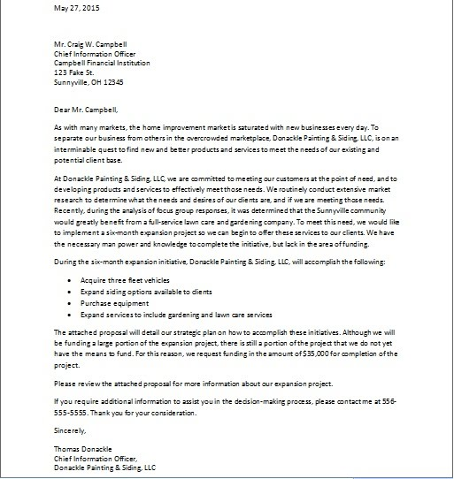 Sample Cover Letter Business Proposal: Rosemargueritekisses: Sample Business Funding Request Package