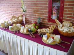 mesa de quesos sencilla