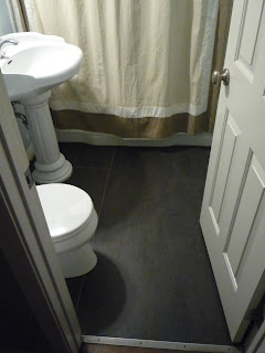 Marmoleum Bathroom Floor Renovation