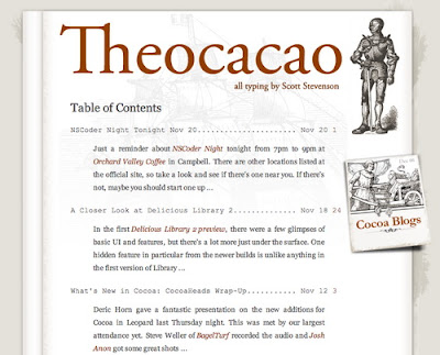 Theocacao, Excellent Blog Designs