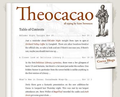 Theocacao, Excellent Blog Designs