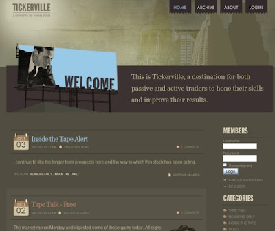 Tickerville, Excellent Blog Designs