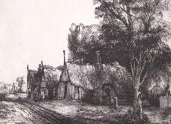 Rembrandt Landscape, Delacroix