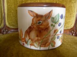 Biscottiera con coniglio