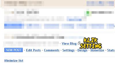 tutorial macamana nak delete blog
