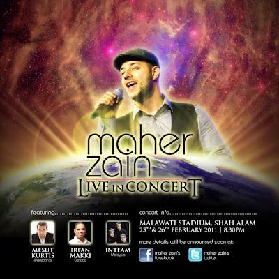 Konsert Maher Zain di Malaysia pada 25 dan 26 Februari 2011