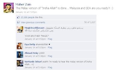 Lagu InsyaALLAH Maher Zain Dalam Bahasa Melayu | Tiket Boleh Dibeli Secara Online Dan Di Outlet Terpilih
