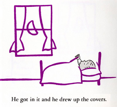 Grovecrest art harold and the purple crayon for Harold and the purple crayon coloring pages