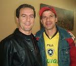 Beto Vetromille e  Túlio Maravilha - atacante do Botafogo