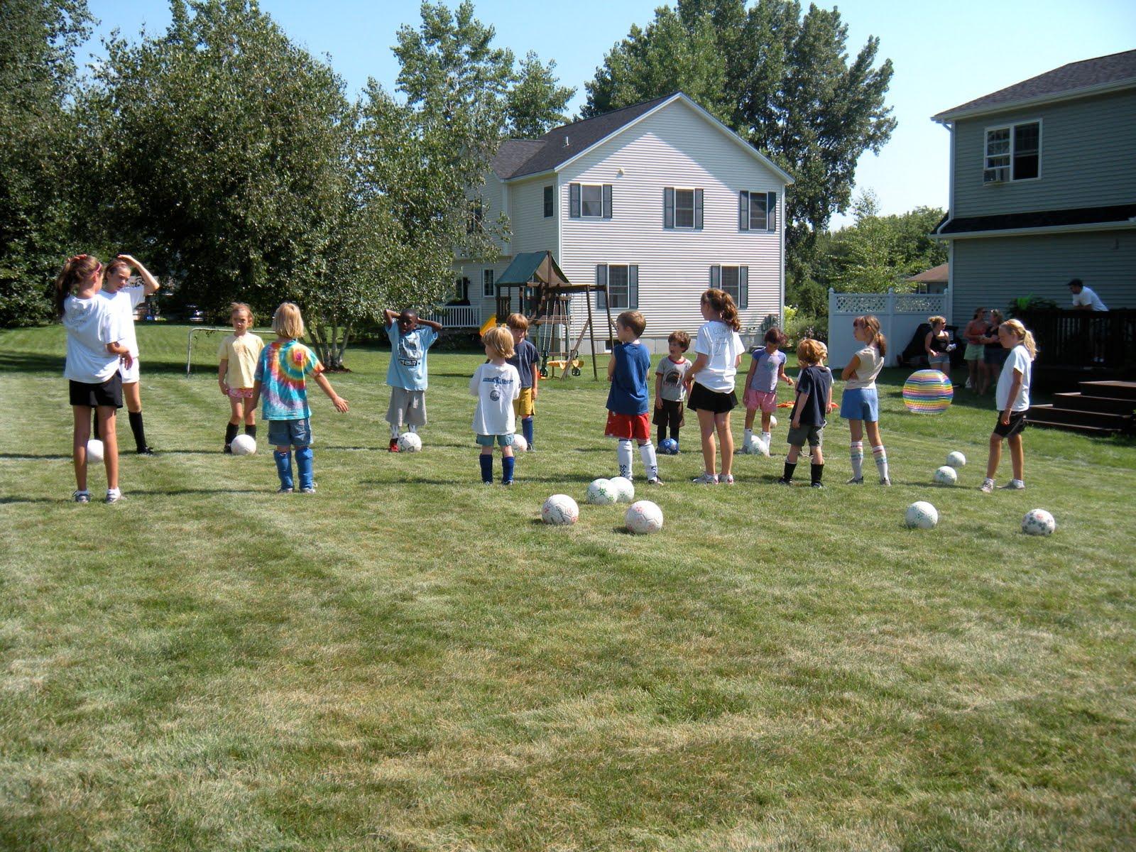 Soccer Backyard Drills : Backyard Soccer Camp July 2010