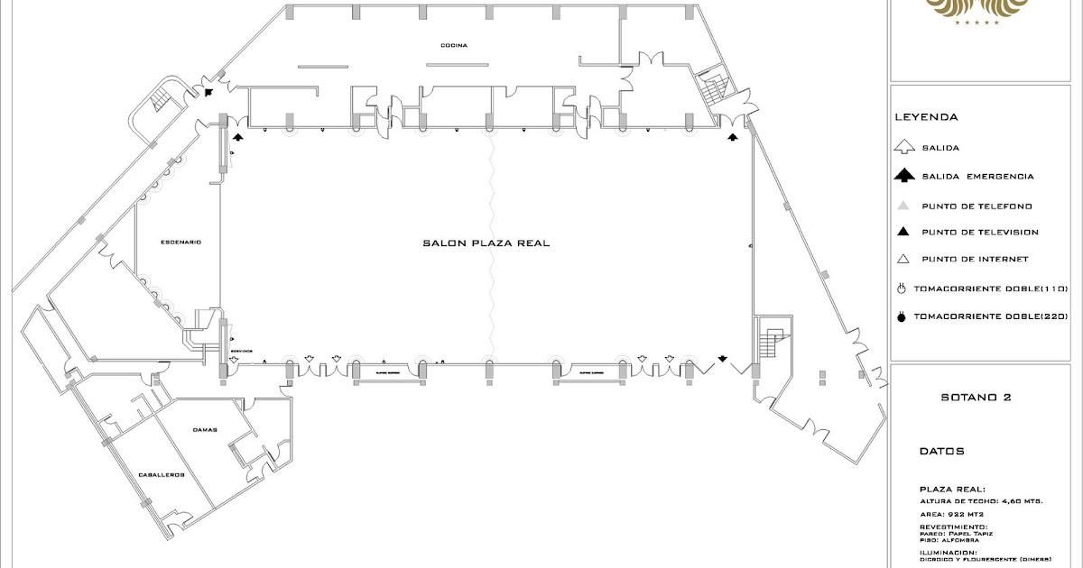 Departamento de banquetes y eventos eurobuilding caracas for Planos de salones