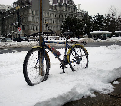 Washington DC commuter bicycle