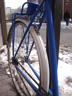 blue pinstriped bike fenders