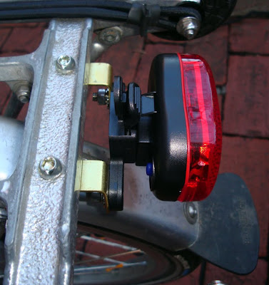 side view tail light Brompton bike blinkie