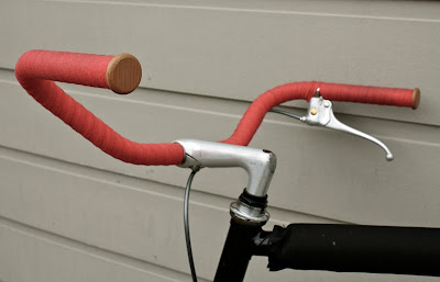 classy wooden end caps for cloth handlebar tape
