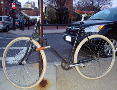 elegant fixed gear bicycle