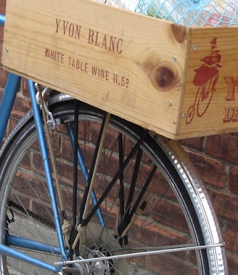 attaching wine box to bike