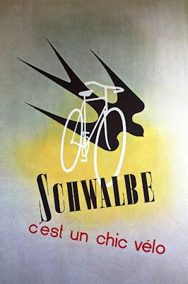 Schwalbe 1930s bike poster