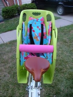 custom child's bicycle seat