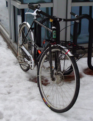 ANT bike Boston bicycle snow