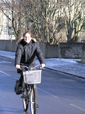 cyclist bike bicycle cycle chic Iceland Icelandic Reykjavik