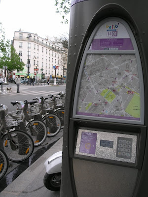 Velib station Paris