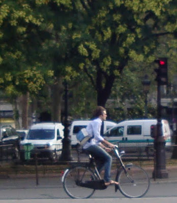young man Parisian cyclist
