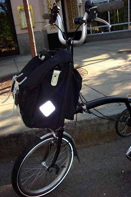 Carradice bag on a Brompton
