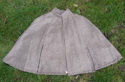 reflective tweed cycling cape