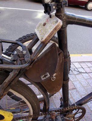 fender bag on bicycle