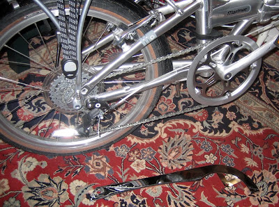 velo orange chrome chainguard for a folding bike Dahon