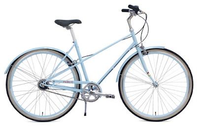 Public mixte bicycle in blue