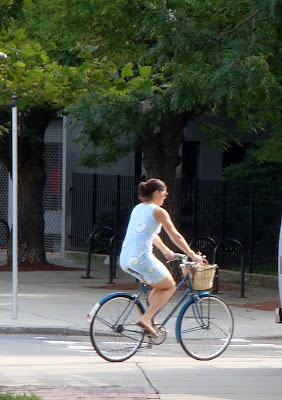 blue dress blue bike boston