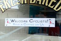 free coffee for cyclists in Bennington, VT