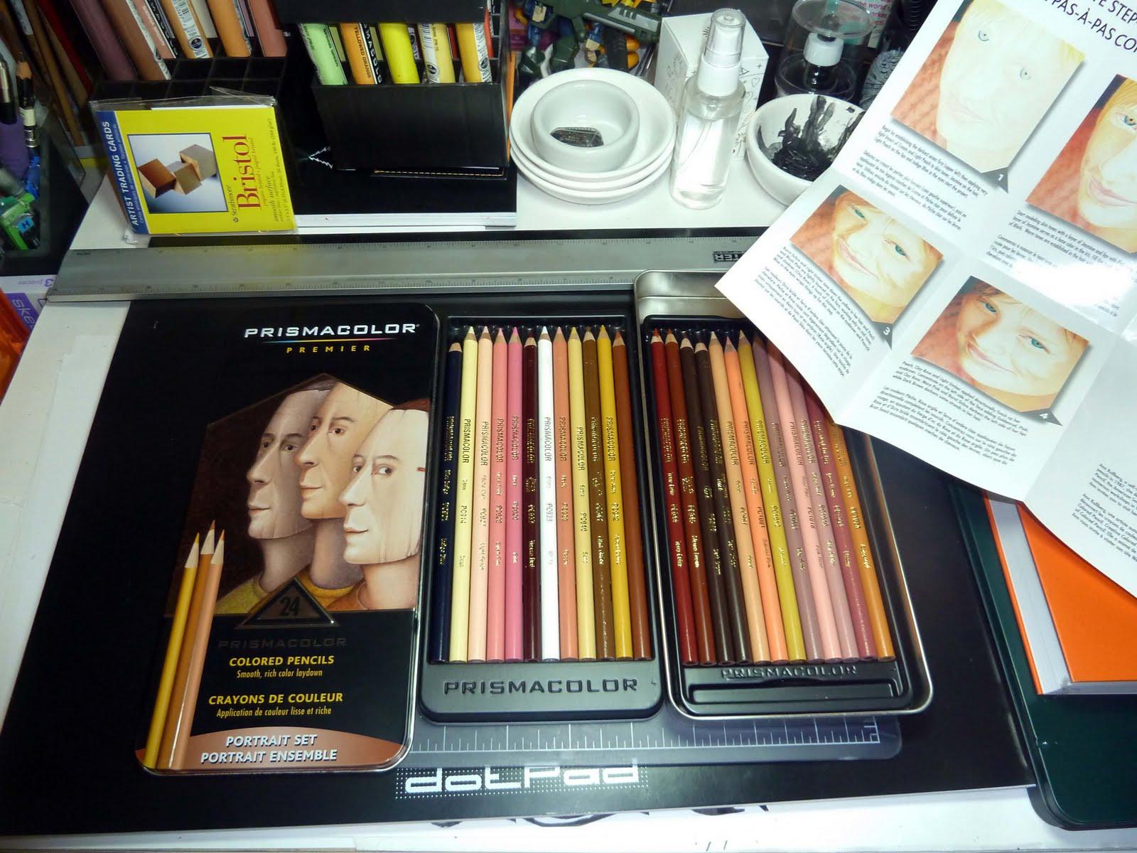 Kid Sketches Prismacolor Premier Portrait Set Of 24 Colored Pencils