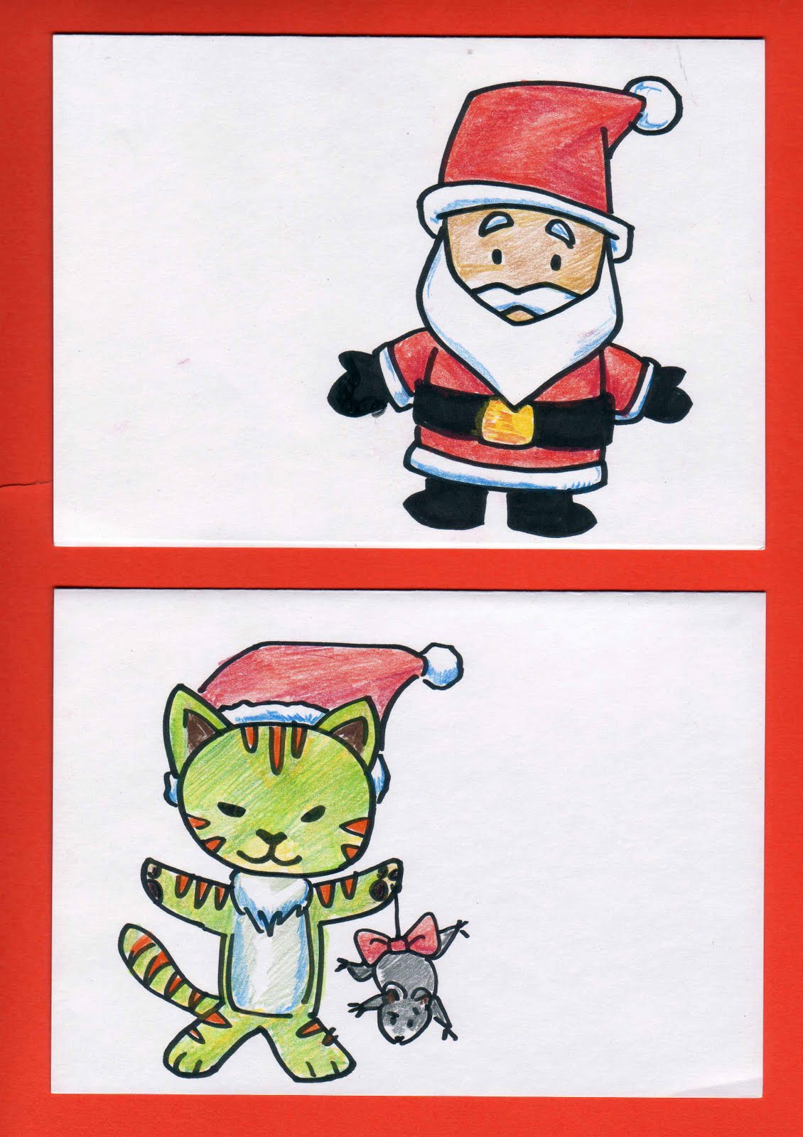 kid sketches holiday card coloring templates