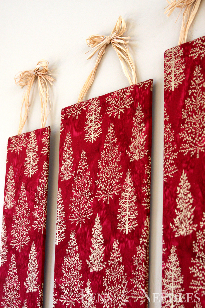 Christmas Wall Decor Diy : Pens and needles diy christmas wall art