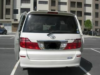 Toyota Alphard Rear View