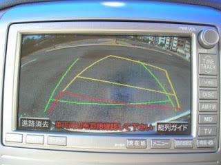 Toyota Alphard Rear View Turning