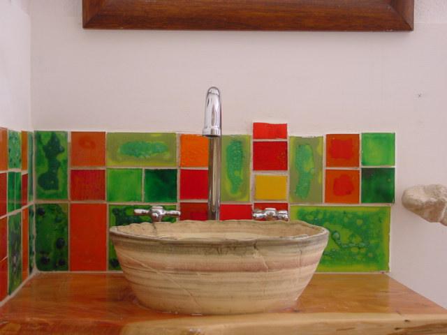 Bacha Para Baño Azul:Casa Lavanda