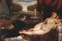 Tiziano: l'organista, Venere e Cupido