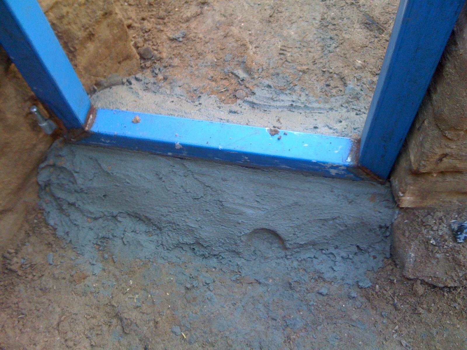 Fire bunker the fire door frame installation - Installing exterior door on concrete ...
