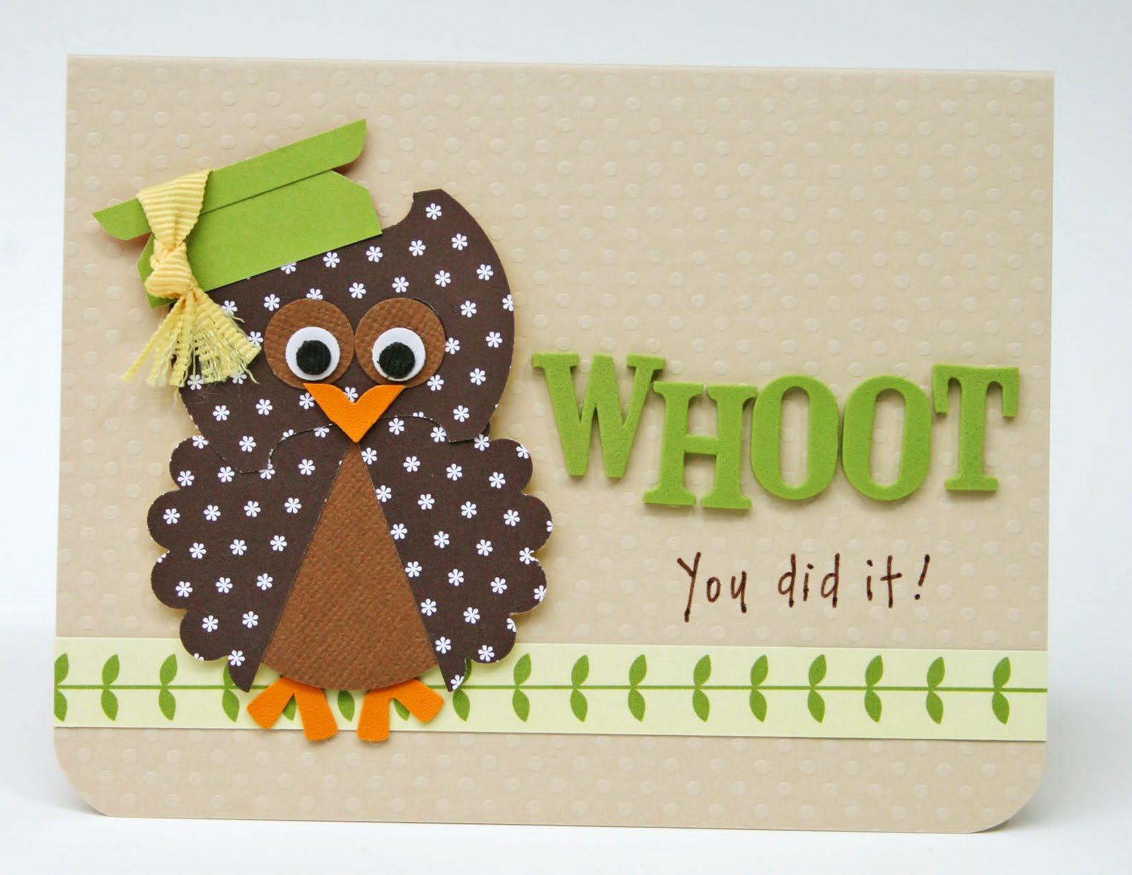 How to put scrapbook back together - Owl Card And Our Weekend