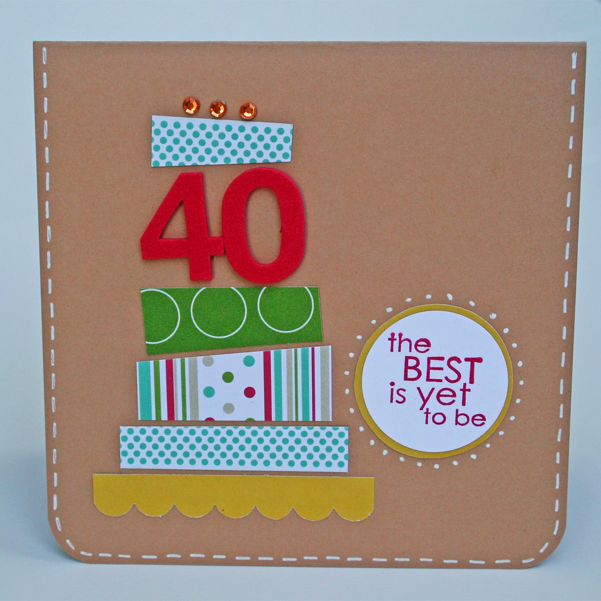 Carrot Top X 3: 40th Birthday Card