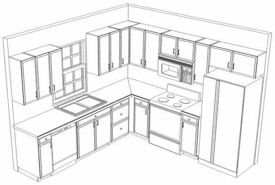 Modern Kitchen Layout Plan kitchen planning - grafill